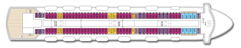 Deck: 'Deck 8' / Ship: 'Celestyal Majesty' cruise vessel / Cruise company: Celestyal Cruises