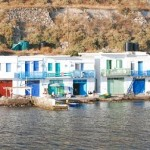 Milos: syrmata houses at Klima