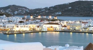 The view from the Porto Mykonos hotel