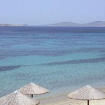 Mykonos: the view from St. John beach
