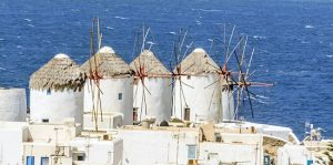 Mykonos, windmills