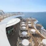 Apollon deck: outdoor bar