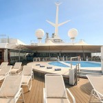 Helios deck: the swimming pool area