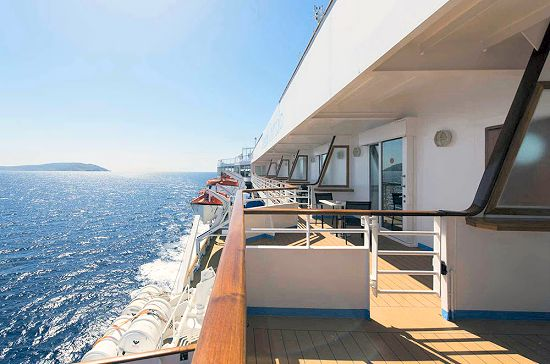 The 39 celestyal olympia 39 cruise vessel travel in greece for Cruise ship balcony view