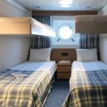 'XB' Outside cabin (~11,3sqm) with portholes