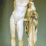The statue of Hermes by Praxiteles at the Olympia museum