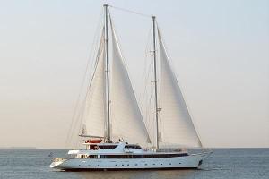 The 'Panorama II' sail assisted cruise ship