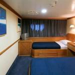Cat. 'B' cabin on the 'Panorama II' sail cruiser