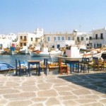 The village of Naousa on Paros island