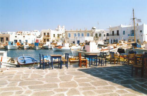 The village of Naousa on Paros island