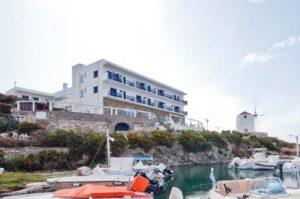 The Pandrossos hotel in Paroikia, Paros