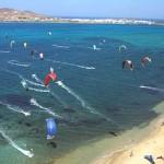 Kite-surfing in Paros