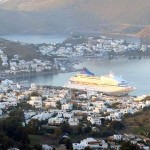 View of Scala, the port of Patmos