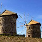 Patmos: the windmills of Chora