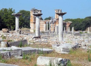 The archaeological site at Philippi
