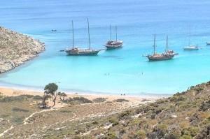 Pserimos, Vathy beach