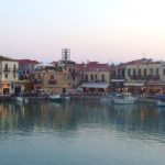 The Venetian port of Rethymno