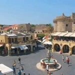 Rhodes Old City square