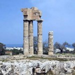 The temple of Apollo on the Acropolis of ancient Rhodes