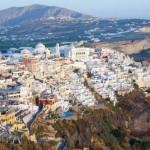 Santorini: Fira town