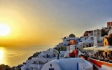 Watching the sunset from Oia
