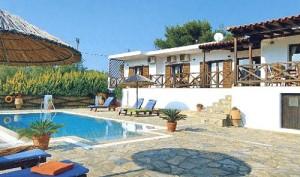 The Villa Pefka in Skiathos