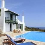 Dimitri House in Skopelos, the swimming pool terrace