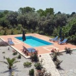 Villa Katerini in Skopelos: the pool terrace