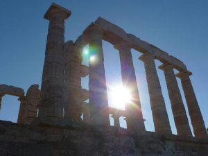 The temple of Poseidon at Sounion - photo by R. Myers