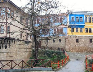 Traditional houses in Veria