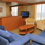 Royal Suite with balcony (ST): the sitting area with two single sofa-beds